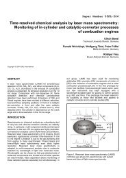 Time-resolved chemical analysis by laser mass spectrometry ...