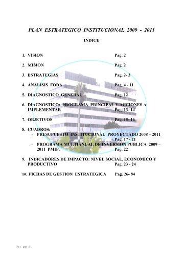 PLAN ESTRATEGICO INSTITUCIONAL 2009 - 2011 - Imarpe