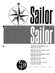 INSTRUKTIONSBOG FOR SAILOR RT144 ... - Equipment