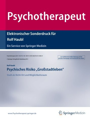 Psychotherapeut 58 - Sigmund-Freud-Institut