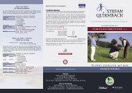 Fortgeschrittene - Stefan Quirmbach Golfschule