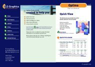 Optima Product Guide - CLS Graphics