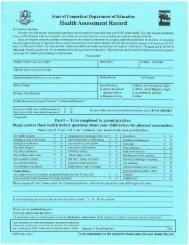 CT Health Assessment Form - CREC Schools