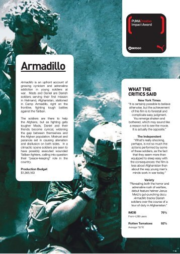 Armadillo is the fourth of five Impact Highlights dossiers compiled by
