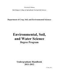 Undergraduate Handbook ESWS - Crop, Soil, and Environmental ...