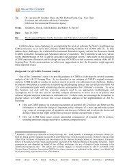 2009-06-29 Analysis Group.pdf - California Climate Change Portal