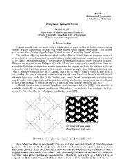 Origami Tessellations - The Bridges Archive
