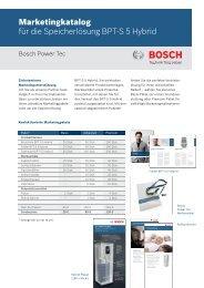 Marketingkatalog BPT-S 5 Hybrid - Solarstrom Tag und Nacht