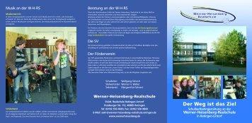 Der Weg ist das Ziel - Werner-Heisenberg-Schule