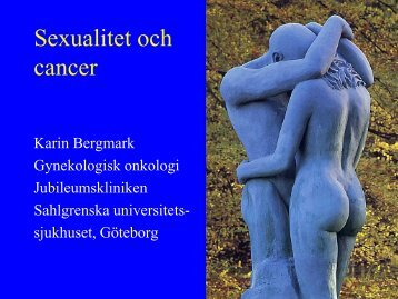 Sexualitet och cancer - SFOG