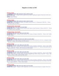 Dogshows in Italy in 2012 - Dog's World Advertising
