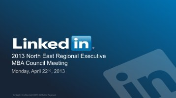 """LinkedIn Recruiting Solutions """"tagline"""" - Executive MBA Council"""