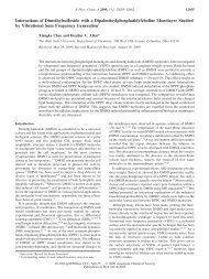 Interactions of Dimethylsulfoxide with a ...