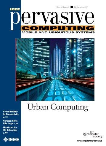 IEEE pervasive computing - MIT SENSEable City Lab ...