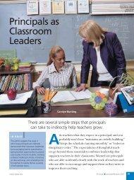 Principals as Classroom Leaders - National Association of ...