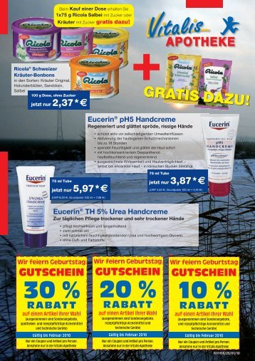 30 % 20 % 10 % - Vitalis Apotheke Bremen