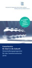 Programm des CareerService SoSe 2010 - Recrutainment Blog ...