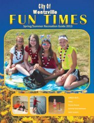 Fun Times Recreation Guide - The City of Wentzville | Missouri