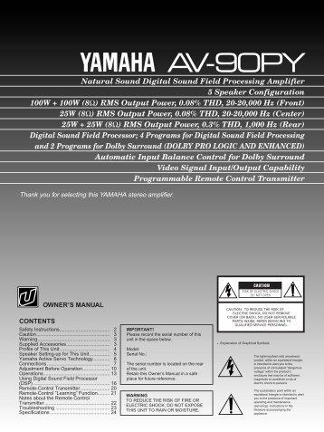 AV-90PY p.1-19 - Yamaha