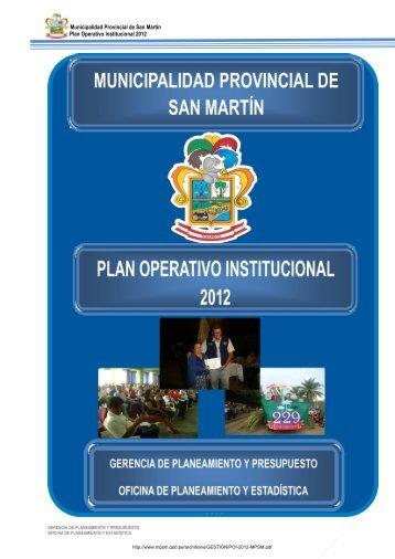 Plan Operativo Institucional 2012 - Mpsm.gob.pe