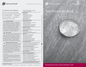 Semi-annual report New Perspective Fund - American Funds