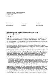 Utredning om forenkling og effektivisering av ... - KoKom