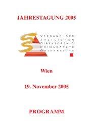 Programm 2005.pdf - Verband der leitenden Krankenhausärzte ...