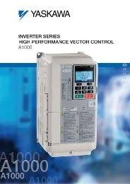 InvErtEr SErIES HIGH PErformAncE vEctor control A1000