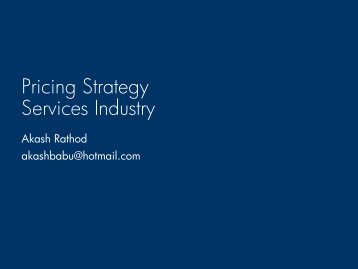 Pricing Strategy Services Industry - Glenn Voss Index