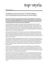 33 Milliarden Umsatz und mehr als 147.000 ... - Top of Styria