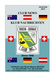 June 2012 / July 2012 (PDF) - Rhein Donau Club - iiNet