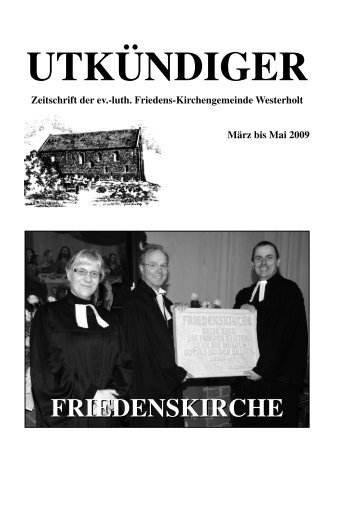 UTKÃœNDIGER - Ev.-Luth. Friedens-Kirchengemeinde Westerholt