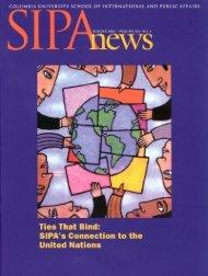 SIPA NEWS - School of International and Public Affairs - Columbia ...