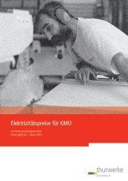 Elektrizitätspreise für Gewerbebetriebe 2013» (PDF) - Thurwerke AG