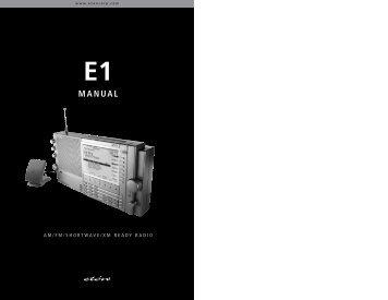 e1 manual