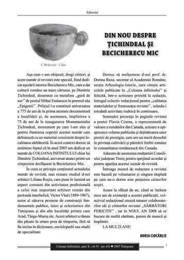 Revista Coloana Infinitului nr. 63 - Brancusi