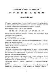 Antonio Salmeri, Casualità o legge matematica. - Euclide. Giornale ...