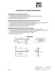 20-minute dutch door requirements - VTonline - VT Industries Inc