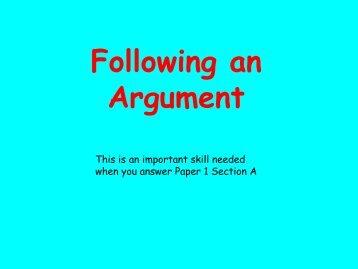 Following an Argument