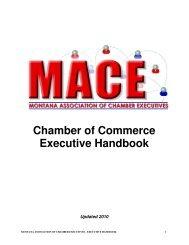 MACE Chamber of Commerce Executive Handbook - Montana ...