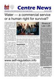 Centre News 2 - colour - Centre for Socio-Legal Studies