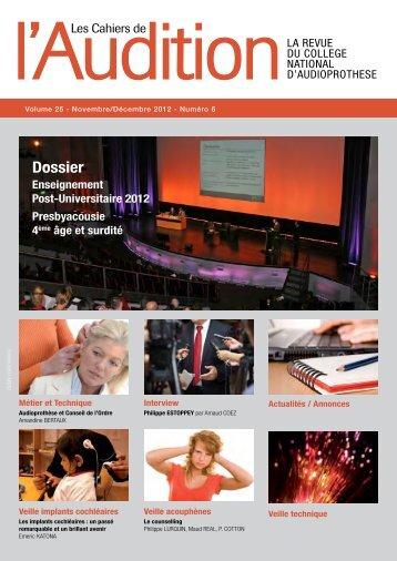 Télécharger le PDF complet N°6 Année 2012 - Collège National d ...