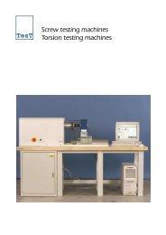 Screw testing machines Torsion testing machines TesT - TesT GmbH