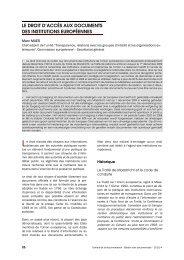 le droit d'accès aux documents des institutions ... - ABD-BVD