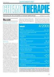 Wichtige Erreger in Klinik und Praxis - Zeitschrift für Chemotherapie