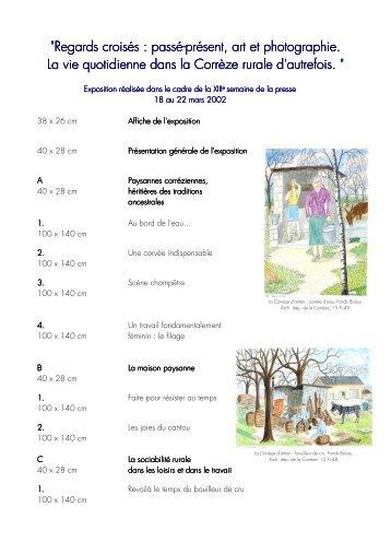 Regards croisés - Archives départementales Corrèze