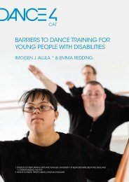 barriers to dance training for young people with disabilities - Dance4