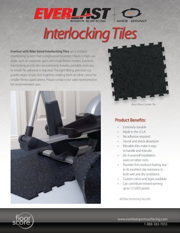 Interlocking Tiles - Everlast Sports Surfacing with Nike Grind