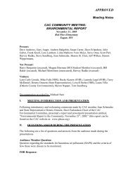 November 21, 2005 Approved Minutes - Community Advisory ...