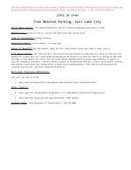 Free Metered Parking: Salt Lake City